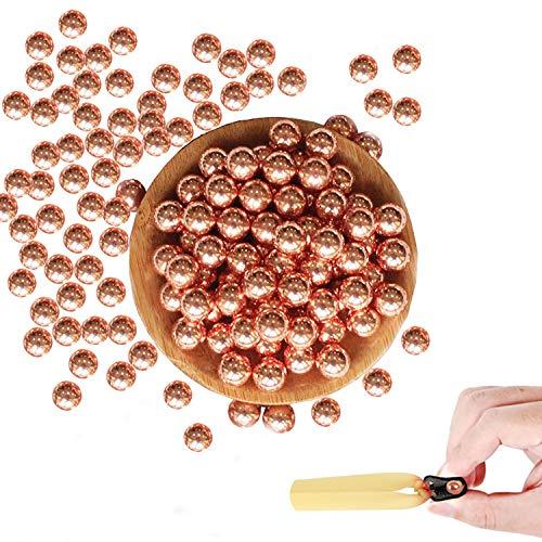 Steinschleuder Munition Schleuder Zwille Slingshot Katapult Munition aus Kupfer Kohlenstoffstahl, Geeignet für Slingshot Target Shooting mit Einem Exquisiten Aufbewahrungsbeutel (0.43in,1.76lb)