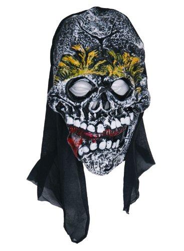 Zombie caoutchouc masque visage-JAUNE-langue