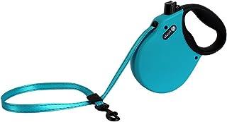 زمام قابل للسحب بطول 40.64 سم للكلاب حتى وزن 20.44 كجم، مقاس صغير، باللون الأزرق من ألكوت