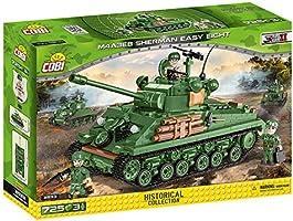 COBI 2533 Historical Collection WWII M4A3E8 Sherman Easy Eight CzoĹg amerykaĹski [KLOCKI] (Cobi-2533)
