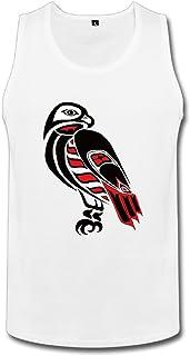 Cute Soul メンズ タンクトップ たか Eagle イーグル 鷹狩タトゥー柄 ☆二重縫い加工 カットソー アメカジの王道 ?