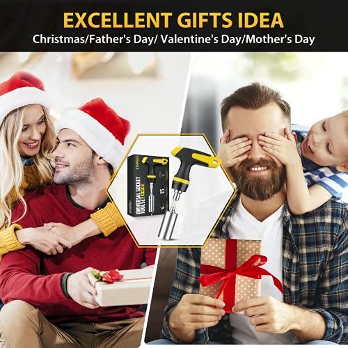 Universal Socket Tools Ratchet Screwdriver Bit Set, Father's Day Gifts Super Universal Socket Adapter, Christmas Anniversary Birthday Valentines Stocking Stuffers for Men Dad Him Women (Ratchet Set)