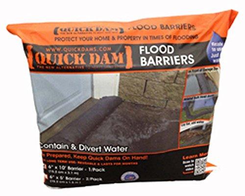 Absorbsp Quick Dam 17' Long Reusable Flood Protective Barriers - 15 Pack