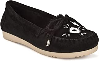 Five Tribe Women's Peaceful Suede Moccasin Loafer