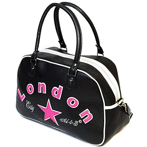 London City AD43 Bowling Bag, Schwarz / Pink