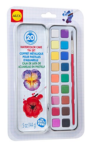 ALEX Toys Artist Studio Watercolor Cake Tin Set