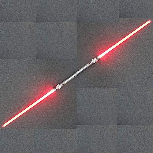 Star Wars Double Filde Saber Luces Mental Electronic Lightsabre Jedi Knight Combinación Darth Moore...