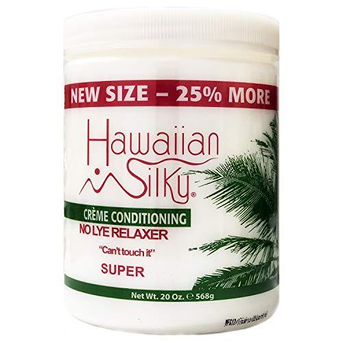 Hawaiian Silky no lye relaxer, super, White, 20 Ounce