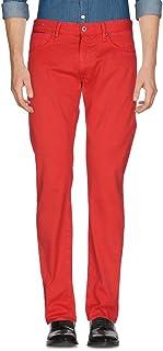 INCOTEX インコテックス パンツ 31 赤 ストレッチ SKY SLIM ジーンズデザイン ヴィンテージ加工 ジップフライ