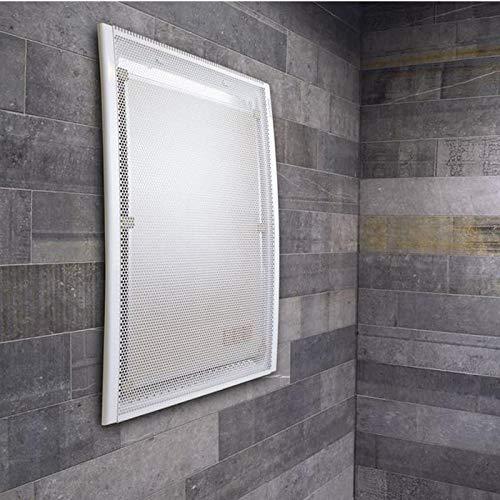 Wandheizung ideal als Badezimmerheizung, Gimmerheizung mit 2 Wärmestufen, Wärme nach 2 Min, Sicherheitssensor, leichte 5,5Kg.