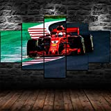 45Tdfc 5 Unidades Pictures Red F1 Formula One Ferra Car Painting Home Decor Modern Wall Art Canvas HD Prints Frame Modular Poster