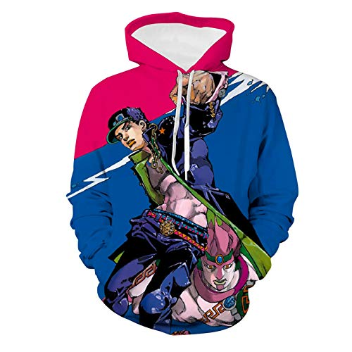 495 JoJo's B-iza-0rre Cool A-dventure Unisex Hoodie 3D Printed Hooded Pullover Sweatshirt for Men Women Teen