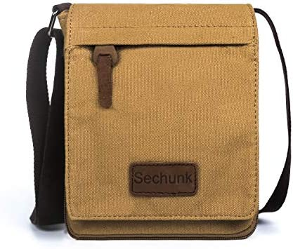 Sechunk Small Vintage Canvas Messenger Cross body bag Shoulder bag s Yellow small product image