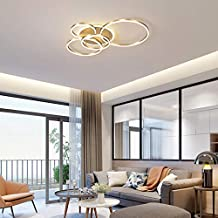 Running LED plafondlamp, moderne acrylstijl 2 ronde ring met gloeilamp plafondlamp kroonluchter voor woonkamer slaapkamer ...