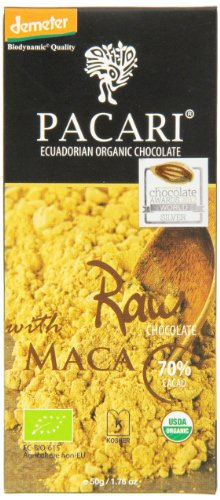 PACARI RAW Roh-Kakao-Schokolade Maca + Kokosblütenzucker