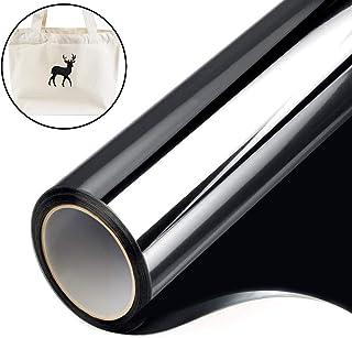 1 Rollo de Vinilo de Transferencia de Calor Papel de Transferencia Negro Dimensiones 30 cm x 200 cm para Camisetas Ropa Sombreros Bolsos y la Mayoría de las Superficies Textiles