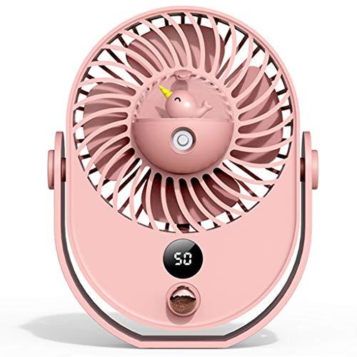 Mini Ventilador USB portátil 10 Archivos 360 ° Ventilador silencioso de Escritorio de Viento Fuerte humidificador de 1800 mAh para el hogar, al Aire Libre, Gimnasio