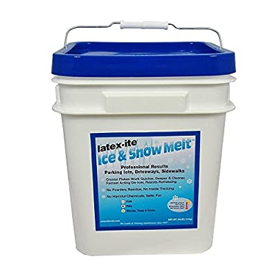 Latex-Ite 12987P Pail, 30 lb Ice and Snow Melt, Blue