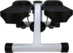 Fitness Stepper, Multi-Function Household Hydraulic Mini Pedal Indoor Sports Twist Steppers with Resistance Bands (Black)