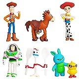 BESTZY Toy Story Merch Mini Muñecas, Decoraciones para Tartas, Muñecas Coleccionables de Dibujos Animados, Regalos para Amantes de los Juegos, Juego de Decoración de Muñecas de 7 PCS
