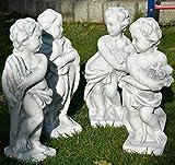 Figuren Putten Vierjahreszeiten Skulpturen Winter Frühling Sommer Herbst Gartendeko Gartenskulpturen Gartenfiguren Garten Figuren Satz 4 Stück stehend H 50 cm
