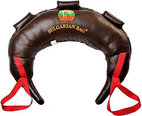 Suples Bulgarian Bag Original - Leather Size M(26lbs), Made, Including The Instructional Video from The Inventor Coach Ivan Ivanov (Wrestling, Fitness)