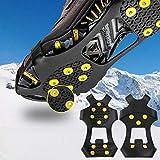 LIZHAIMING Crampones de Marcha,Racos de Hielo Tracción Antideslizante Más de Zapatos para 10 Tacos Nieve Hielo Grips Crampones Tacos Picos,fácil de Poner,M