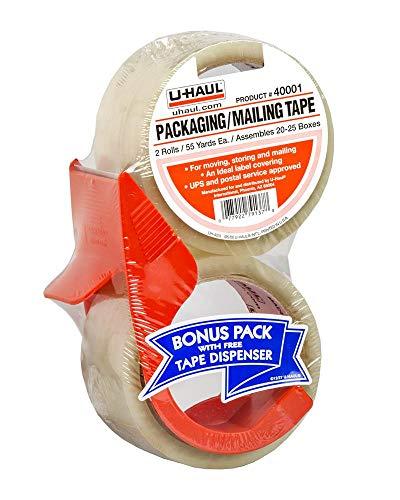 U-Haul Packaging/Mailing Tape (Two 55 Yard Rolls w/Dispenser)