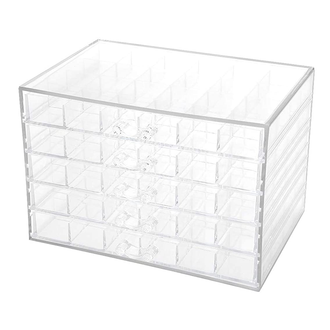 即席路地便利さネイルデコレーション収納ボックス、120グリッドネイルデコレーションシーケンス整理ボックス透明な空のネイルアート収納ボックス、ネイルアート整理ボックス