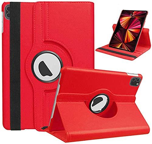 iPro Accessories iPad Pro 11 2021 Case iPad Pro 11 Inch 2021 Cover - Slim Fit Premium Pu Leather Folio Case For Apple iPad Pro 11 2021 Cover (Red)