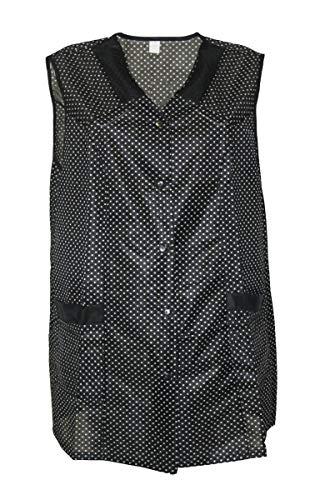 7/8 Kasack Kittel kurz Schürze Dederon Polyester, Farbe:schwarz, Größe:38