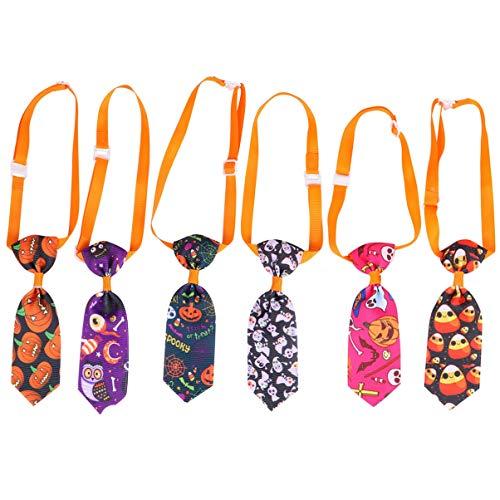 ibasenice Krawatten für Hund Verstellbare Fliege Halsband für Kleine Hunde Katzen Welpen Bowties Krawatten Pflege Bögen für Die Fotografie Halloween Urlaub Festival Party Geschenke 6St