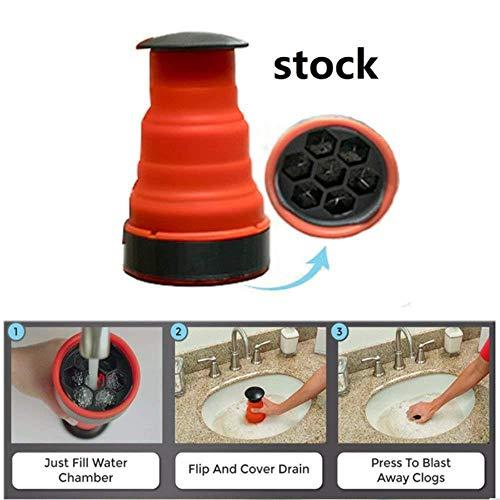 WXQDD dredge Luftdruck Abflusspumpe Rohrbagger Reinigungswerkzeug Toilettenkolben Spülbecken Abwasserkanal Baggerwerkzeug Ideal Für Die Meisten Abwasserkanalrohre