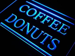 BestProductAsia Coffee Donuts Cafe Open Dispaly Neon Light Sign