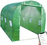 Sundayway Large Walk in Greenhouse Tunnel with Smart Sprinkler System with App Control, Intelligent Portable Green House(10'X 7'X 7')