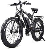 Bicicletas Eléctricas, 26 pulgadas bicicleta eléctrica de montaña E-bici 21 Velocidad 48v batería de litio de 4,0 Todoterreno 1000w del asiento trasero de la bicicleta eléctrica bicicleta de montaña f