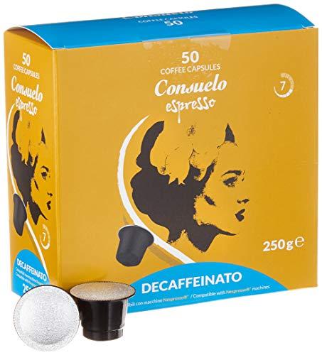 Consuelo Nespresso* kompatible Kapseln   – Koffeinfrei, 50 Kapseln