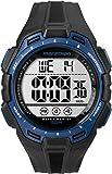 Marathon by Timex Men's TW5K94700 Digital Full-Size Black/Blue Resin Strap Watch