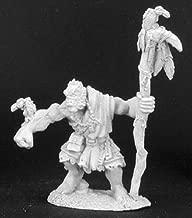 Reaper Miniatures Unpainted Quosk Ravenshire, Half-Orc Druid #02980 Dark Heaven
