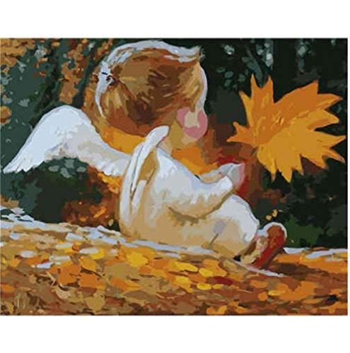 GenericBrands Pintar por Numeros,DIY Pintura al óleo Kit,DIY Pintura por Numeros,para Adultos Niños Pintura por Números con Pinceles y Pinturas Decoraciones, bebé 40 x 50cm Sin Marco