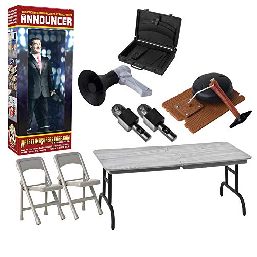 Wrestling Action Figure Gear Announcer Special Deal #5 for WWE Wrestling Figures