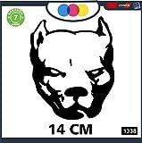 Pegatina para coche – Perro Pitbull – Pitbull – Stickers – Notebook – Perro, Perros, adhesivos para perros, pegatinas para coche – Accesorios – Stickers, Decal Cód 1338 (negro)