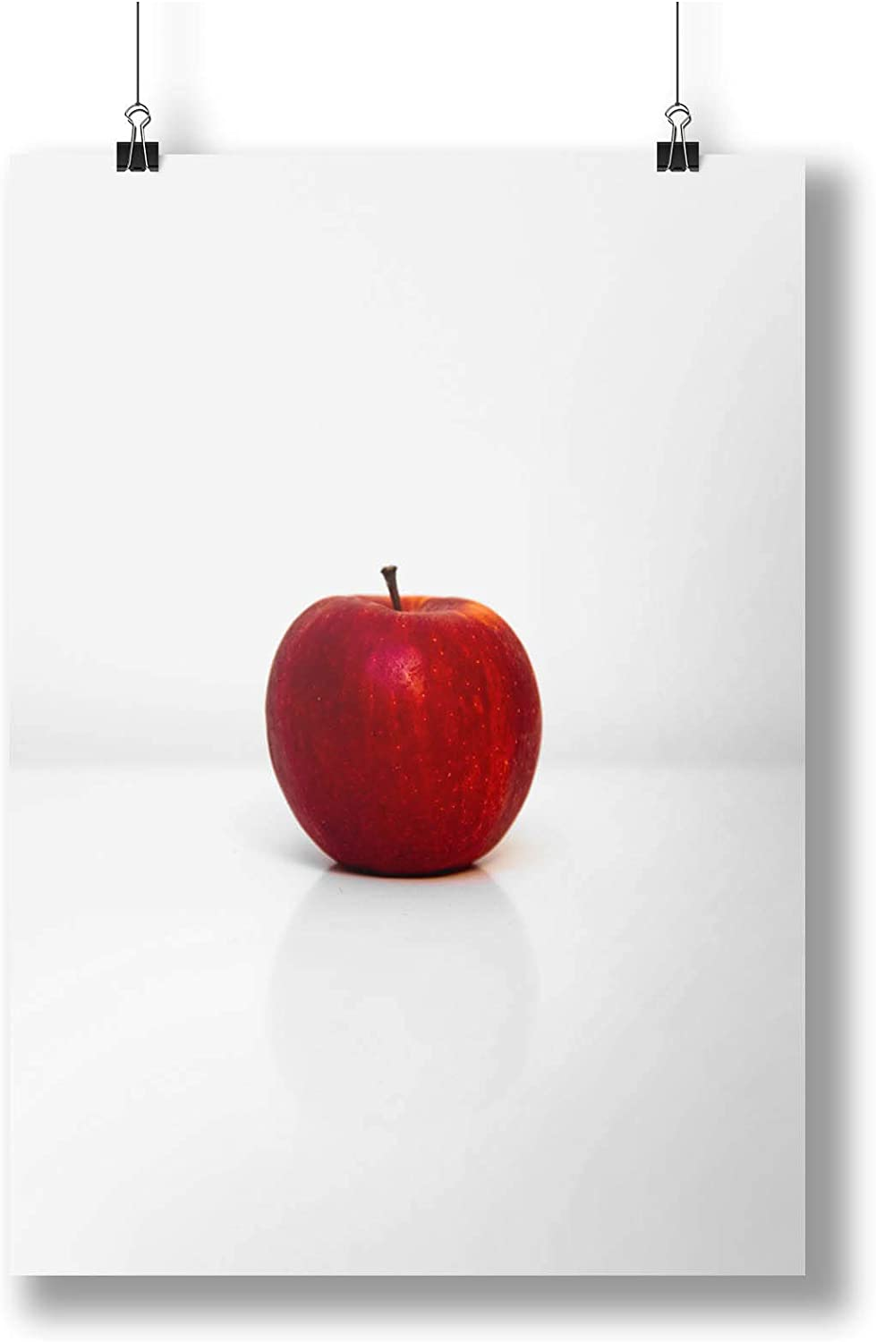 Red Apple ON White Background A0 A1 A2 A3 A4  photo poster a3405h Healthy Snack