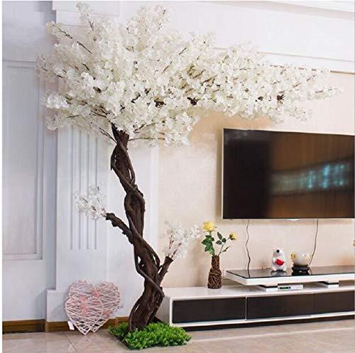 XMQW Artificial de la Flor de Cerezo Blanco Árbol de Sakura Planta Artificial para Eventos Fiesta al Aire Libre Interior Restaurante Centro Comercial
