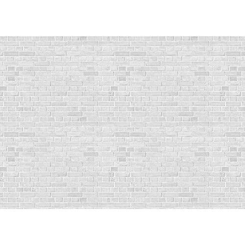 Fototapete Stein - ALLE STEINMOTIVE auf einen Blick ! Vlies PREMIUM PLUS - 350x245 cm - WHITE BRICK STONE WALL Steinwand Steintapete Ziegelwand Ziegel weiß Mauer Ziegelmauer - no. 137