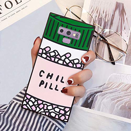 Chill Pills Samsung Galaxy Note 9 Phone Case Black TPU Protective case Shockproof Non-Slip Soft Designed Chill Pills case for Samsung Galaxy Note 9