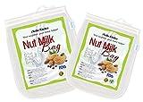 iNeibo Borsa per Latte di Noci , Sacchetto Latte Vegetale , Set da 2 Nylon Filtro Alimenti (25cmx30cm e 30cmx30cm)
