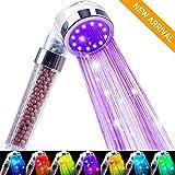 Jopee Badezimmer Duschkopf mit 7 Farben LED Licht...