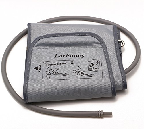 LotFancy D-Ring Cuff Replacement H-003D H-CR24 for Omron Upper Arm Blood Pressure Monitor BP710 BP742 HEM-432C HEM-711AC HEM-712C HEM-712CLC ELITE7300W, Large 9-17 Inches