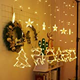 Shan-S Christmas String Lights,12 LED Christmas Tree Reindeer Bell Star String Lights for Xmas Home, Party, Christmas, Wedding, Garden, Patio,Bedroom Party Decor Indoor OutdoorWarm White
